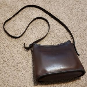 Vintage Coach Brown Leather Crossbody Handbag